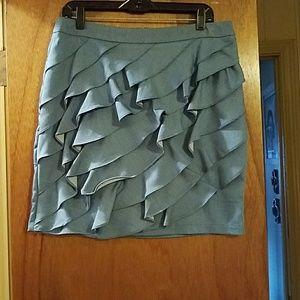 Dresses & Skirts - Chambray Ruffled Pencil Skirt